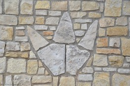 Dinosaur foot print design at the State Park Entrance Building