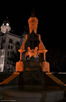 Horse Fountain at Tarrant County Courthouse Square (2015)