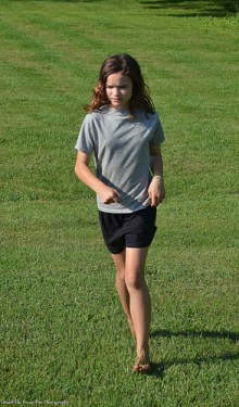 Katelynn loved to run around barefoot in Katja's huge front yard.