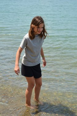 Dipping the feet in the water of Lake Erie was a welcomed moment after sitting in the car for sooo many miles. ...