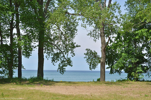 Lake Erie at Fishermans Beach in Pennsylvania