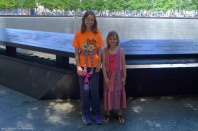 Katelynn and Sara at the 9/11 Memorial in New York
