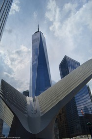 One World Trade Center with the World Trade Center PATH-Station in the foreground