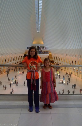 Katelynn and Sara in the World Trade Center PATH-Station