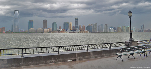 Looking at New Jersey from the Battery City Esplanade