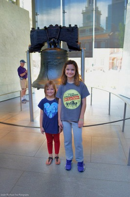 Sara and Katelynn in front of Liberty Bell