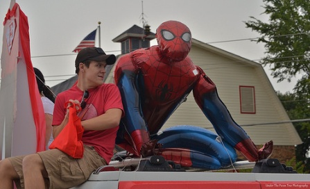 "Did I mention, this year's theme of the parade is ""Superhero""?"