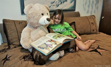Story time with Teddy is fun!