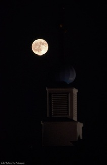 The August Full Moon behind the St. Sophia Ukrainian Greek-Catholic Church