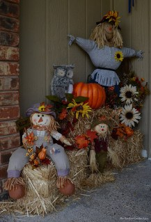 The Autumn decor at our front door in 2016