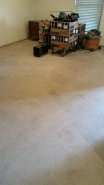 After the worker smoothed out the surface, they began to prep the floors. This was the morning after. It had a chance to dry overnight.