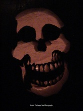This skull pumpkin I originally carved for a neighbor. (2007)