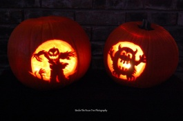 Katelynn's and Sara's Halloween Pumpkins 2011