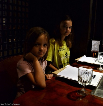 Sara and Katelynn can't wait to eat shrimps and Filet Mignon.