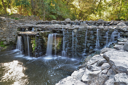 The Prairie Creek waterfall in Richardson