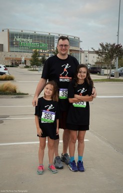 Kevin, Katelynn and Sara are ready for the Halloween 5K Run at Nebraska Furniture Mart.
