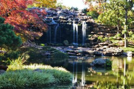 Big waterfall in the Japanese Garden