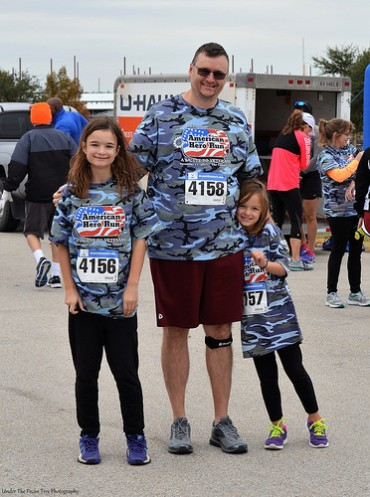 """Katelynn, Kevin and Sara are ready to race the """"American Hero 5K"""" in The Colony."""