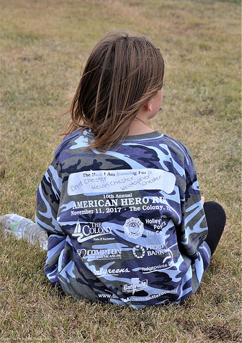 Sara ran for her Heroes: Grandpa, Daddy & Uncle Kristopher