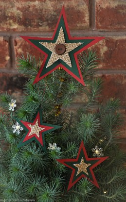 The Star ornaments I made for the real tree.