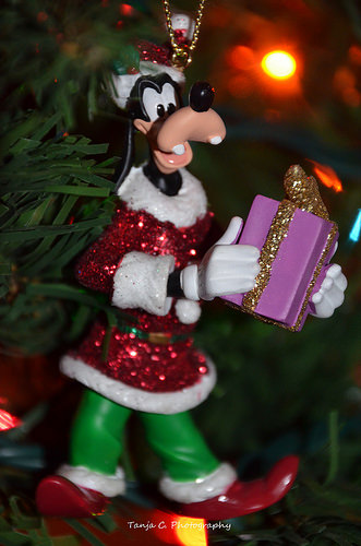 Goofy loves to help delivering presents, too. ... Be careful! Don't get to goofy and mix up those name tags, Goofy!