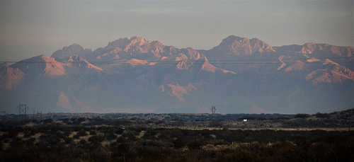 San Andres Mountain Range, east of Las Cruces