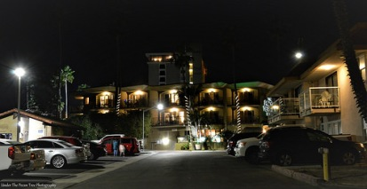 We finally arrived at the ocean in San Diego, We parked right in front of the Pacific Terrace, and spent the night in the Diamond Head Inn (right in the photo).