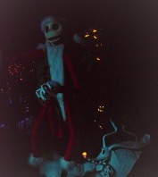 jack Skellington in the Haunted Mansion