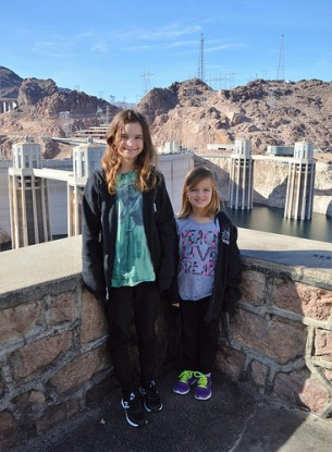 Katelynn and Sara at Hoover Dam