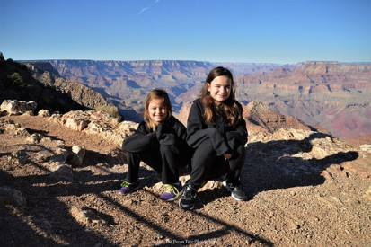 Sara and Katelynn at Dessert View by the Grand Canyon