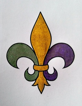 The colored Fleur de lis