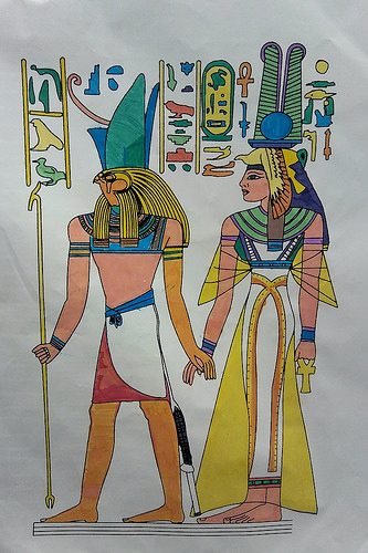 """Walk like an Egyptian. ..."""