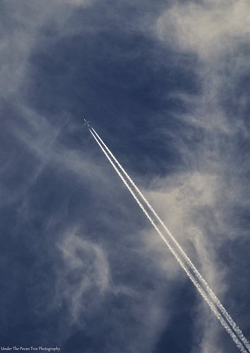 Contrail in the beautiful March sky