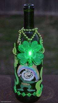 A St. Paddy's Day bottle, I decorated for Katelynn and Sara in 2013