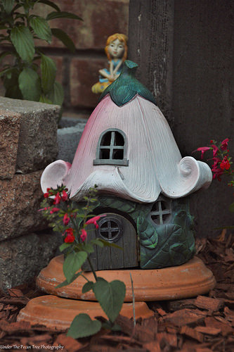 """The fairies will love their """"refurbished"""" home."""