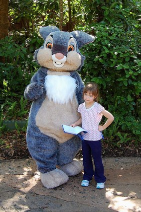 Thumper and Katelynn in Disney's Animal Kingdom in 2011