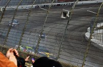 Denny Hamlin caused a pile up, which pulled Jimmy Johnson and Aric Almirola out of the race.