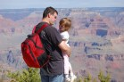 Katelynn does a quiz about the Grand Canyon with her Daddy.