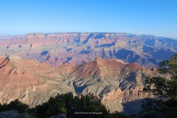 When you look closely, you can see the Earth curvature along the rim across the Desert View of the Grand Canyon.