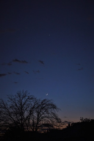 Tonight's Waxing Crescent Moon and Planet Venus right after sunset (05-16-2018)