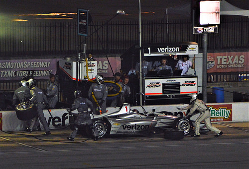 Pit stop for Josef Newgarden