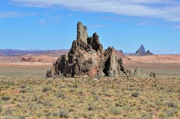 Cool shaped rocks along Highway 160, just south of Monument Valley.