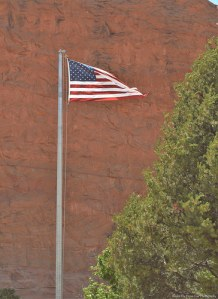 The Star Spangled Banner in front of Carl Hayden Visitor Center