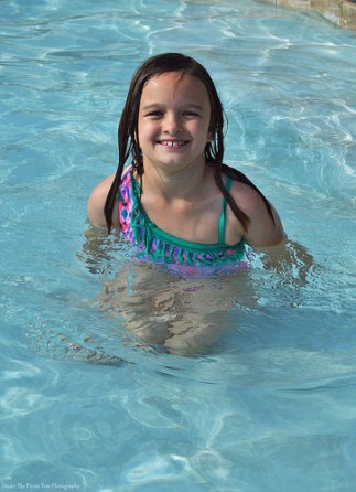 Sara loved the pool in Zion Ponderosa Ranch Resort