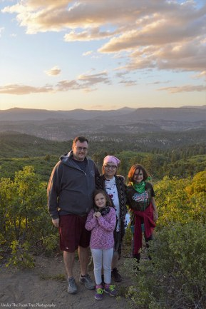 Kevin, Katelynn, Sara and I enjoy this wonderful view from the mountain.
