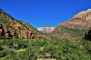 Pine Creek Canyon, Zion Canyon and the West Temple in the background