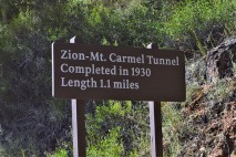 A couple interesting facts of the Zion-Mt. Carmel Tunnel