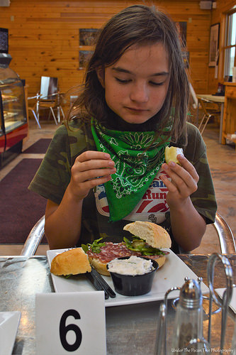 Katelynn had a Salami-Arugula Sandwich at the Forscher bakery.