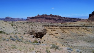 San Rafael Reef Cliffs near Spotted Wolf Canyon at Interstate 70