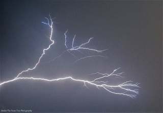Lightning strike from an early August storm in 2013